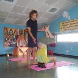 Foto von meinem Yoga Unterricht